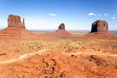 The unique landscape of Monument Valley Royalty Free Stock Images