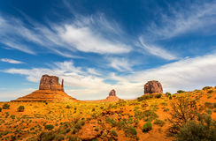 Unique landscape of Monument Valley Royalty Free Stock Photography