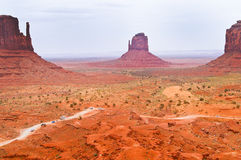 The unique landscape of Monument Valley, Utah, USA Royalty Free Stock Photography