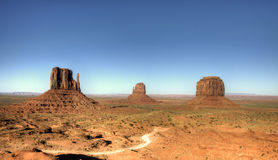 The unique landscape of Monument Valley, Utah, USA. Royalty Free Stock Photos
