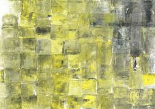 Wicker basket texture. Yellow and grey painted background. Unique light yellow backdrop. Handmade acrylic picture royalty free illustration