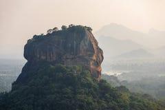 Unique Lion Rock in Sigiriya, Sri Lanka. Stock Photo