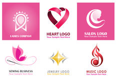 Unique logo collections for women, ladies, sewing, jewelry and heart logo Royalty Free Stock Photo