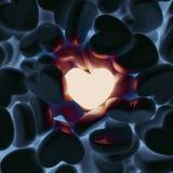 Unique love heart. 3D Illustration Royalty Free Stock Image