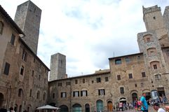 Unique Medieval architecture of San Gimignano, Italy Royalty Free Stock Image