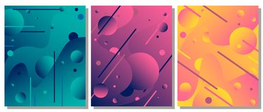 Unique modern abstract background with fluid elements. The abstract background is suitable for typographic products, web-design, and decoration of objects royalty free illustration