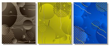 Unique modern abstract background with fluid elements. The abstract background is suitable for typographic products, web-design, and decoration of objects Vector Illustration
