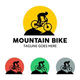 Unique Mountain Bike Illustration Logo Stock Photography