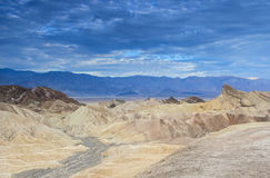 Unique Mountains Formations of Zabriskie Point in Death Valley N Stock Photo