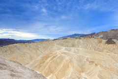 Unique Mountains Formations of Zabriskie Point in Death Valley N Royalty Free Stock Photography