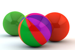 Unique multi-colored sphere. In an environment of the one-color Royalty Free Stock Photos