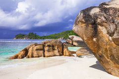 Unique nature of Seychelles islands Stock Images
