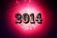 Unique New Year Fireworks Stock Photography