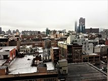 Unique New York Roof Top Sanctuary. Soho roof tops provide a unique perspective of the city as well as a sanctuary from the busy lifestyle on the street below royalty free stock photo