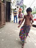 Unique nomadic tribes of India - The Potraj-Worship Tribe & Self-Flagellation (Kadak Laxmi) Stock Images