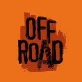 Unique Off-Road Lettering Royalty Free Stock Photos
