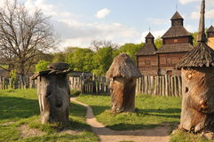 Unique open-air museum Pirogovo Royalty Free Stock Photography