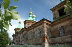 Unique orthodox church. Picture of the old Russian church Royalty Free Stock Images