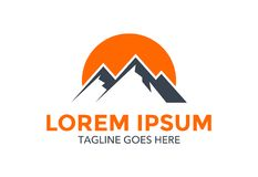 Mountain logo. landscape. vector illustration. editable. Unique and outstanding Mountain logo. landscape. vector illustration. editable with minimalist design Stock Image
