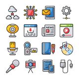 Data Communication Icons Set stock illustration
