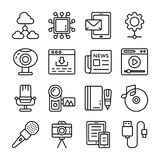 Data Communication Icons Pack stock illustration
