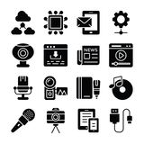 Data Communication Icons Set vector illustration