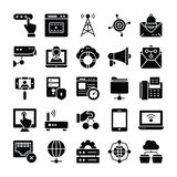 Network and Communication Icons Pack stock illustration