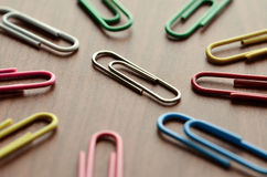 Unique paper clip Royalty Free Stock Image