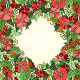 Unique pattern with art flowers. Stock Photography