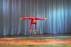 Unique performance acrobat gymnast Stock Photography