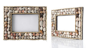 Unique photo-frame on table Royalty Free Stock Image