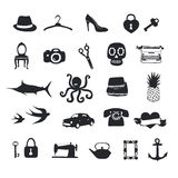 Unique pictograms  big vector set Royalty Free Stock Images