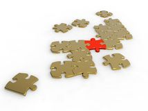 Unique piece of puzzle Royalty Free Stock Photos