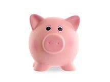 Unique pink ceramic piggy bank Stock Photo