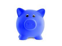 Unique pink ceramic piggy bank Stock Image