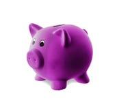 Unique pink ceramic piggy bank Stock Photos