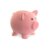 Unique pink ceramic piggy bank Royalty Free Stock Photo