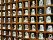 Unique Porcelain Sewing Thimbles Royalty Free Stock Photos