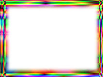 Unique rainbow frame with white empty space Royalty Free Stock Photos