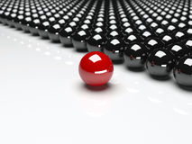 Unique red ball. Leadership Royalty Free Stock Photos