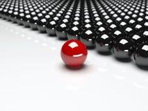 Unique red ball. Leadership stock illustration