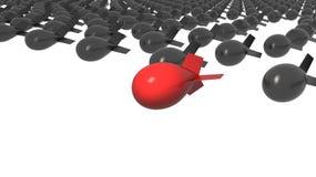 Unique red bomb Stock Image