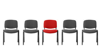 Unique red chair Stock Image