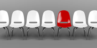 Unique red chair Royalty Free Stock Photography