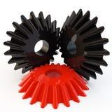 Unique red gear Stock Photo