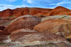 Unique red hills, central Turkey Royalty Free Stock Photos