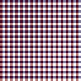 Red, White, and Blue Gingham Seamless Pattern. Unique red and navy blue gingham check lines weaving on white background seamless pattern Stock Image