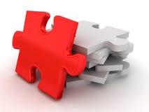 Unique red puzzle Stock Images