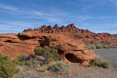 The unique red sandstone rock formations. Stock Images