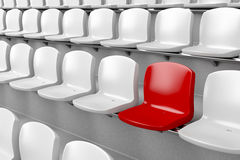Unique red seat Stock Photography